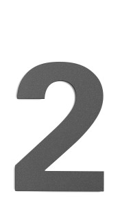 CMD Hausnummer groß 2 anthrazit