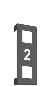 CMD Wandleuchte mit Hausnummer 22/HN