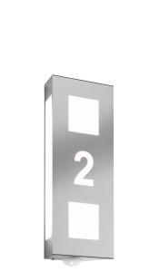 CMD Wandleuchte mit Hausnummer und Bewegungsmelder 26/HN/BM