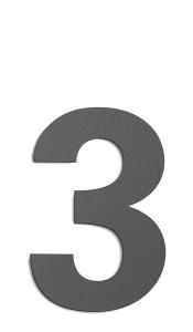 CMD Hausnummer groß 3 anthrazit