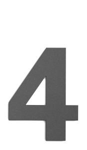 CMD Hausnummer groß 4 anthrazit