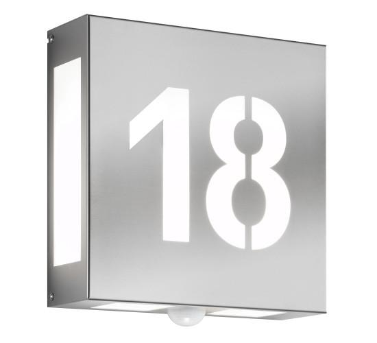 CMD Wandleuchte mit Hausnummer und Bewegungsmelder 42/HN/N/BM