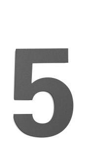 CMD Hausnummer groß 5 anthrazit