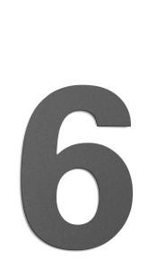 CMD Hausnummer groß 6 anthrazit