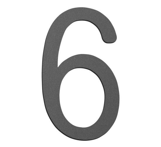 CMD Hausnummer klein 6 anthrazit