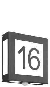 CMD Wandleuchte mit Hausnummer und Bewegungsmelder 62/HN/A/BM