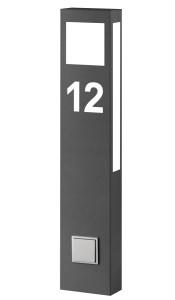CMD Stehleuchte mit Hausnummer und Steckdose 66/HN/ST