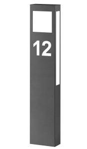 CMD Stehleuchte mit Hausnummer 66/HN