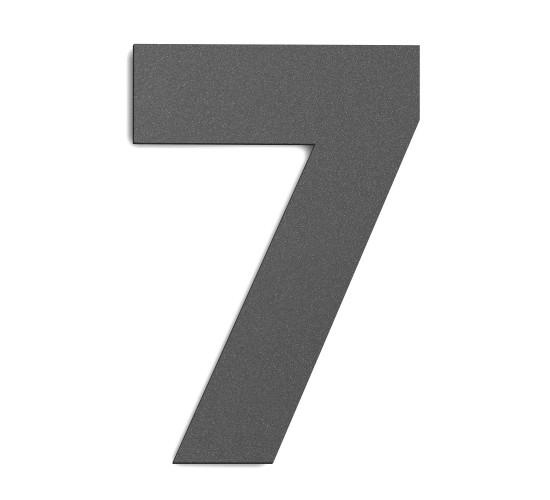 CMD Hausnummer groß 7 anthrazit