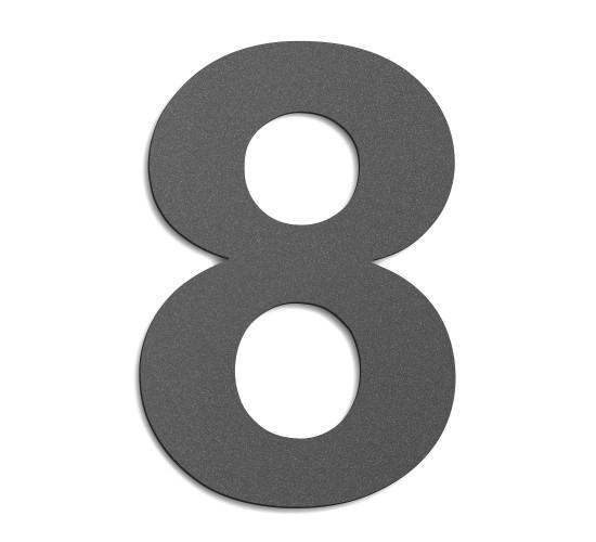 CMD Hausnummer groß 8 anthrazit
