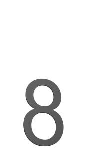 CMD Hausnummer klein 8 anthrazit