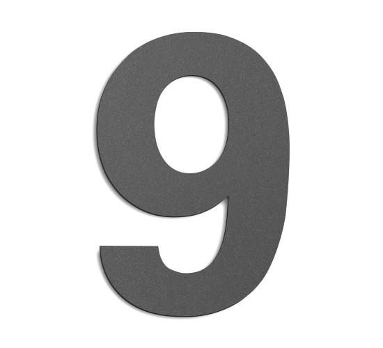 CMD Hausnummer groß 9 anthrazit