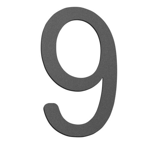 CMD Hausnummer klein 9 anthrazit