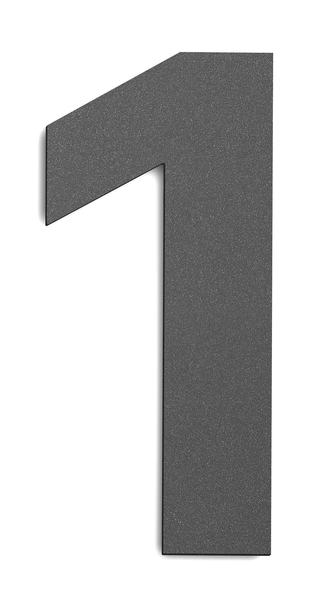 CMD Hausnummer groß 1 anthrazit