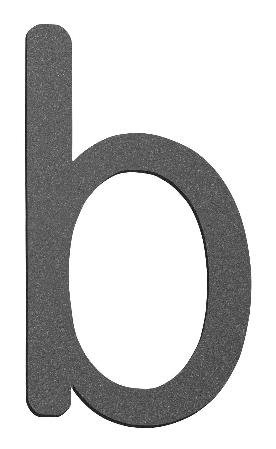 CMD Hausnummer klein b anthrazit