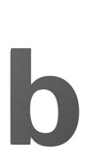 CMD Hausnummer groß b anthrazit