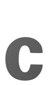 CMD Hausnummer groß c anthrazit