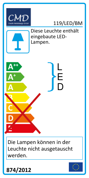 EEK Label 119/LED/BM